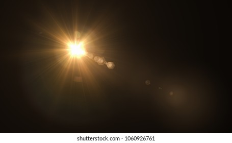 abstract glowing light sun burst with digital lens flare background. 