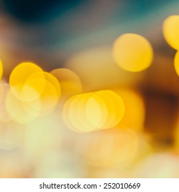 Abstract Gold bokeh christmas background