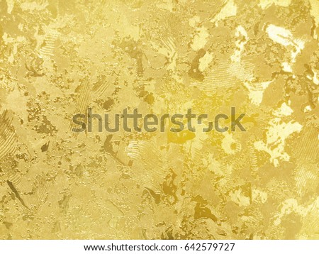 abstract gold color painted on grunge の写真素材 今すぐ編集