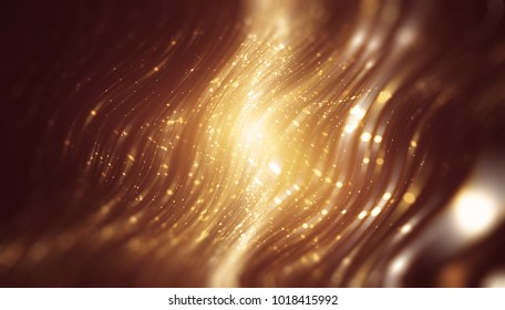 Abstract gold elegant background with glitter and waves. illustration beautiful.