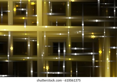 Abstract gold fractal background with various color lines and strips. romantic illustration