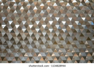 abstract gold hexagonal pattern for texture and background