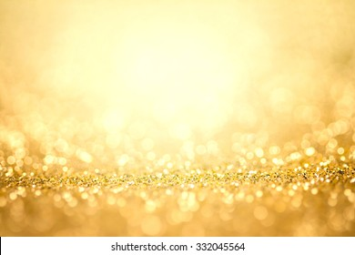 Abstract the gold light for holidays background