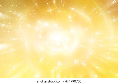 Abstract golden background. Explosion star.