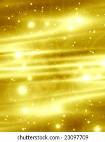 abstract golden background with some sparkles in it