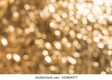 Abstract of golden light background