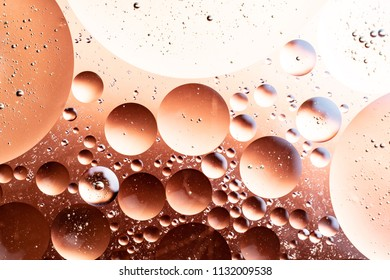 abstract gradient from white to brown of round shapes, circles with volumetric elements