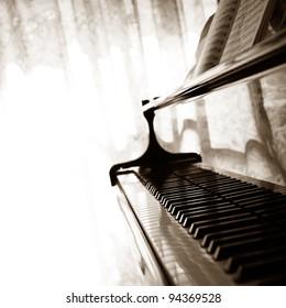 Abstract grand piano