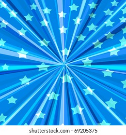 abstract graphic design background with stars and stripes
