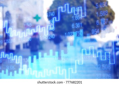 Abstract graphs and statistics chart