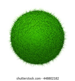 Abstract grass sphere on isolated background. Includes alpha channel.