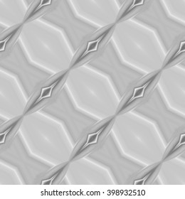 Abstract gray scale decorative kaleidoscope seamless tile