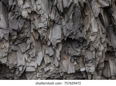 Abstract Gray Volcanic Rock Texture Background