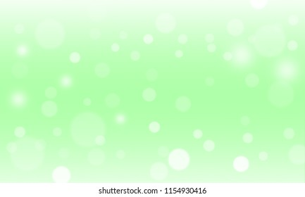 Abstract green background and blur bokeh light effect