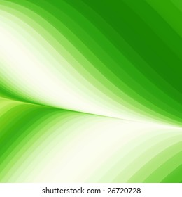 Abstract green background of wavy flowing energy