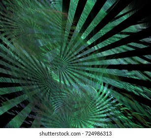 Abstract green fractal pattern. Computer generated graphics.
