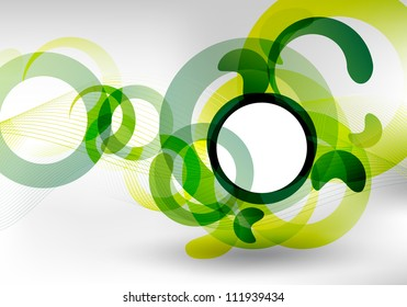 an abstract green futuristic background for design
