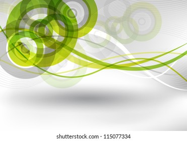 an abstract green and grey background for design