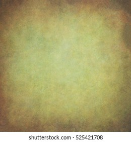 Abstract green hand-painted vintage background