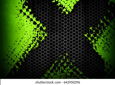 abstract green metal with x design background