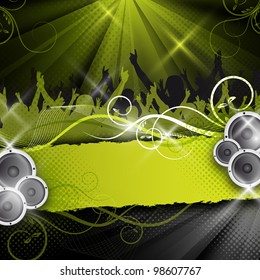 an abstract green party / event design