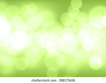 Abstract green tone lights background. Blurred background.