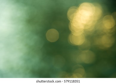Abstract Green and Yellow Bokeh  Background of natural light.
