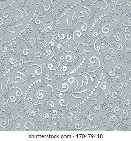 Abstract grey background, seamless pattern, raster illustration