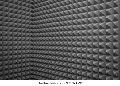 abstract grey background or soundproof wall texture