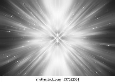 Abstract grey fractal composition. Magic explosion star with particles. motion illustration.