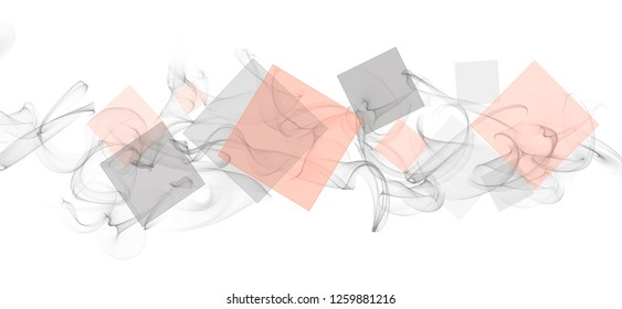 Abstract grey and pink smoke wavy graphic background