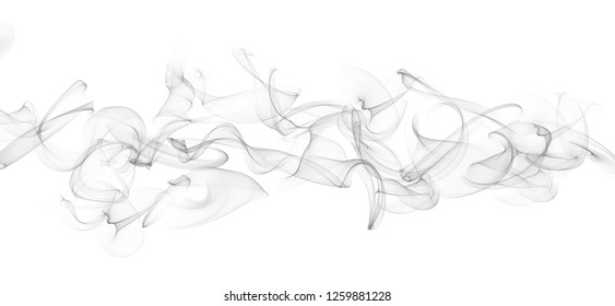 Abstract grey smoke wavy graphic curve background