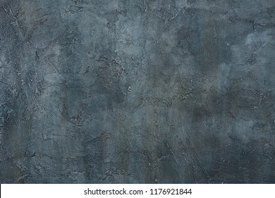Abstract grunge art decorative design gray blue dark stucco concrete background wall texture