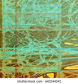 Abstract grunge background. With different color patterns: yellow (beige); brown; green; blue; gray; cyan
