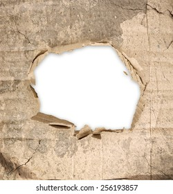 Abstract grunge background with hole for text in the middle