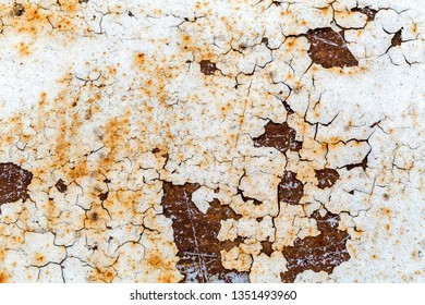 Abstract grunge background of old painted metal surface
