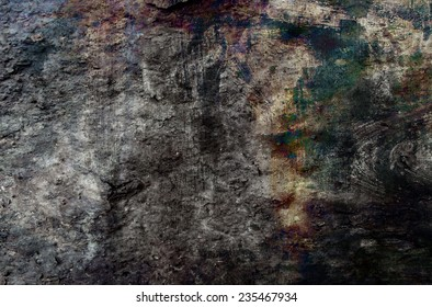 Abstract grunge background in red, orange and black colors.