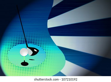 Abstract grunge color golf background with space