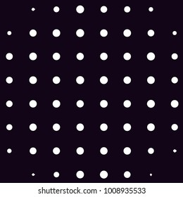 Abstract grunge grid polka dot halftone background pattern. Spotted black and white line illustration