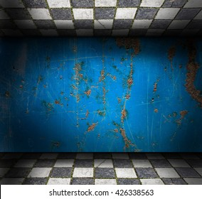 Abstract grunge Interior with scratches and stains