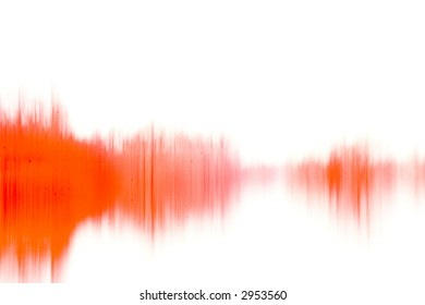An abstract grunge photo similar to a waveform or paint on wet paper