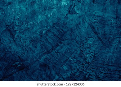 Abstract grunge and rough decorative dark navy blue stucco concrete wall as cement textured and background  - Shutterstock ID 1927124336