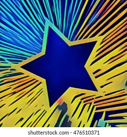abstract grunge star background