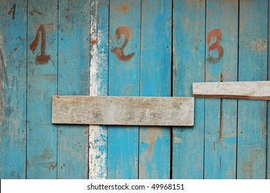 abstract grunge texture of wooden wall with numbers 1, 2, 3