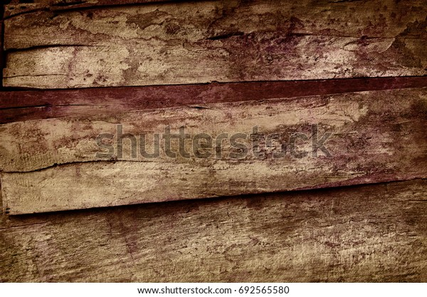 Abstract grunge wooden wall background in dark low key tone