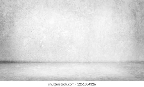 Abstract grungy  concrete wall texture background,gray wall and floor interior backdrop for design art work.