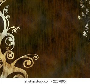 Abstract grungy dark background with swirls