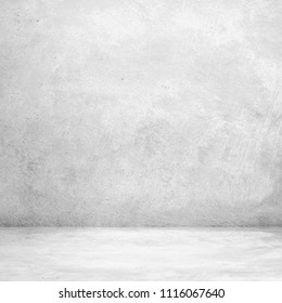 Abstract grungy white concrete wall texture background,gray wall and floor interior backdrop for design art work.