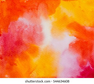 Abstract hand drawn watercolor background. Colorful template. There is blank place for your text, textures design art work or skin product.