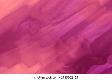 Abstrakter handgemalter Fuchsienwasserhintergrund